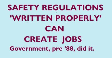 Regulatory Change can Create Jobs