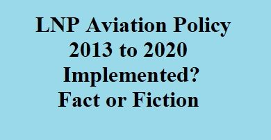 LNP Aviation Policy – Fact or Fiction